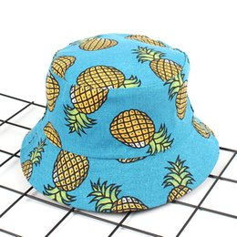 ec58736354f Hot hat spring and summer fruit pineapple double-sided wear fisherman hat  basin cap leisure travel sun hat