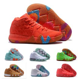 dad61e88a5fd Kyrie IV Green Lucky Charms Mens 2018 All New Shoes For sale Irving 4 Sports  Training Sneakers Wholesale Drop Ship
