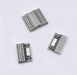 9b181bc4a906 5 Unidades Gunmetal Martilló Los Cierres Magnéticos Fit Flat 20x3mm Cordón  de Cuero DIY Jewelry Making Hallazgos