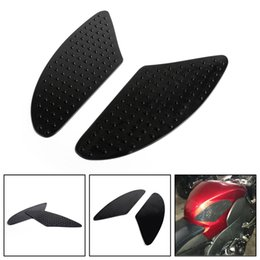 tank pads Promo Codes - Areyourshop Motorcycle Traction Side Tank Pad Gas Knee Grip For KAWASAKI ZX10R Z1000 ZX6R ZX636 04-13 USA Motorbike Covers Styling