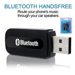 articulaciones doradas Rebajas USB Bluetooth Wireless Kit receptor transmisor de audio aux. 3.5 mm Receptor de música adaptador de audio con caja de color para PC IOS Android