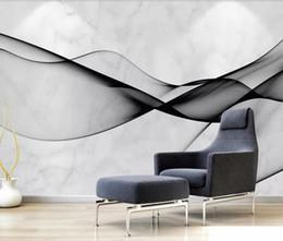 2019 papier tinte kunst Abstrakte Luxus Tapete Wasser Tinte Marmor Wandbilder 3D Schlafzimmer Foto Tapeten Kunst Dekor Leinwand Kontakt Papier Benutzerdefiniert günstig papier tinte kunst
