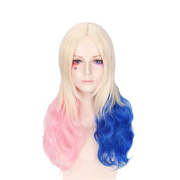 Adult Suicide Squad Harley Quinn Batman Cosplay Twintails Pig Tails Costume Wig