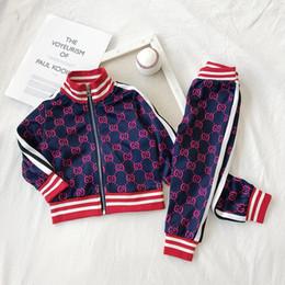2019 chaquetas de tutú Ropa de bebé para niños Traje deportivo Primavera otoño Conjunto Vetement Garcon Cardigan Chaqueta de bebé + pantalones Ropa de niño para envío gratis chaquetas de tutú baratos