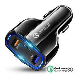 QC 3.0 USB C Araç Şarj 3-Ports Hızlı Şarj 3.0 Hızlı Şarj Araç Telefonu Şarj Adaptörü iphone Xiaomi Mi 9 Redmi nereden