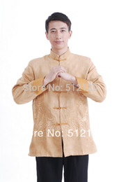 2019 casacos chineses para homens Xangai História nova venda jaqueta chinesa para homens roupas tradicionais chinesas dupla jaqueta de camurça dragão casacos chineses para homens barato
