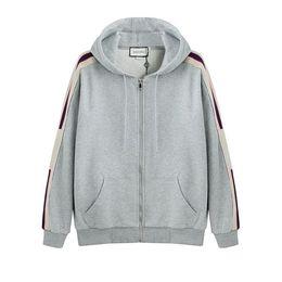 gucci 19SS Gris Italie Marques Designers Nouveau Sweat capuche à capuche avec logo STRIPE Sweats à capuche pour femme Sweat-shirts homme vêtements ? partir de fabricateur