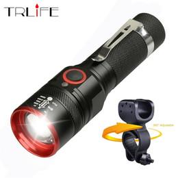 cree teile Rabatt Fahrradlicht Ultra-Bright 8000 Lumen Zoom T6 Fahrradfront LED Taschenlampe Lampe USB wiederaufladbare Fahrrad Licht durch 18650 Batterie # 41394