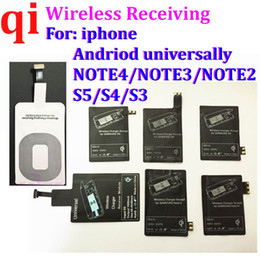 S4 ricevitore wireless online-Universal Type C Qi Wireless Receiver Caricabatterie Charging Pad Receptor Coil Adattatore Da galassia S5 S3 S4 NOTA 4 3 500Pcs / lot