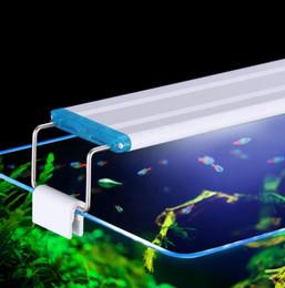 serbatoio di pesci dell'acquario dei leds Sconti Super Slim LED Acquario Illuminazione Acquatica Impianto luce 18-75CM Estensibile impermeabile Clip su Lampada per Fish Tank