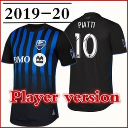4def1ae37 Men Montreal Impact Player version Soccer Jerseys 2019 Primary Authentic  PIATTI PIETTE TAIDER URRUTI SAGNA Player football shirt