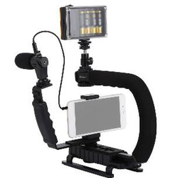 2019 steadicam iphone 2019 PULUZ para steadycam U-Grip C en forma de empuñadura Estabilizador de cámara con cabeza de trípode Teléfono Abrazadera para Steadicam DSLR Estabilizador