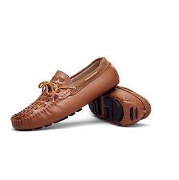 2019 zapatos de tendencia masculinos Tendencia zapatos ocasionales respirables de los hombres 2019 otoño zapatos nuevos guisantes varones tejen un pedal perezoso cómodos zapatos de gamuza salvaje por mayor rebajas zapatos de tendencia masculinos