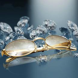 Подарочное солнце онлайн-Нержавеющей круглые солнцезащитные очки для мужчин ретро солнцезащитные очки рамка для женщин очки для чтения Оптовая Картер очки для вождения партии подарки