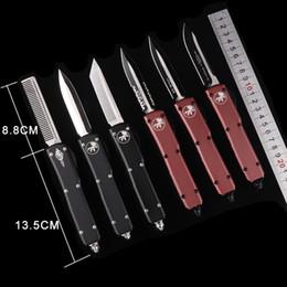 Equipement de combat en Ligne-MICROTECH UTX-85 Ultratech Couteau Automatique UTX-70 HALO V D2 MT couteau automatique cutter tactique couteaux de vitesse couteaux de chasse couteaux carbure classe bre