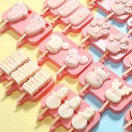 200 ШТ. Силиконовые Формы для Мороженого Красный Силикагель Плесень Baby Dog Маленькие Ноги Домашнее Эскимо Палочки Инструменты Снеговик Факел Форма от