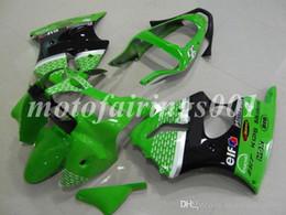 2019 кавасаки zx6r частей Custom Free Injection Mould Новые запчасти для мотоциклов Комплекты обтекателей для Kawasaki Ninja ZX-6R ZX6R 636 2000 2001 2002 ZZR600 00 01 02 Зеленый дешево кавасаки zx6r частей