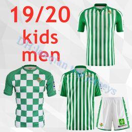 2019 camisa xs Top thai 2019 2020 REAL BETIS adulto crianças Camisas de Futebol 19/20 JOAQUIN BOUDEBOUZ MANDI TELLO INUI JAVI GARCIA crianças camisa de futebol uniformes desconto camisa xs