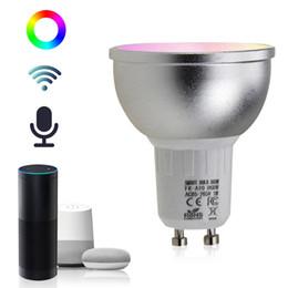 Nuovo arrivato GU10 5W WiFi Smart APP LED funziona con Alexa Echo Home Assistance AC85-265V da ha condotto la caramella di cotone fornitori