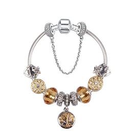 aae4ca53f 19CM Charm Bracelet Silver Pandora Bracelets For Women Royal Crown Bracelet  Purple Crystal Beads Diy Jewelry with logo discount royal crystal bracelet