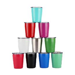 2019 I più nuovi bicchieri da vino in acciaio inossidabile a doppia parete isolati sottovuoto da 9 once 9 oz con coperchio con tazza per tazza da bambino in paglia Boccetta IN STOCK da