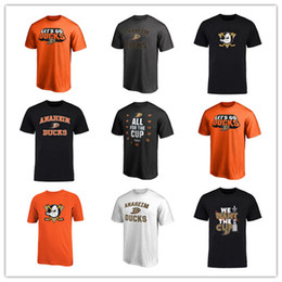 conception de logos de t-shirt Promotion 18 19 Anaheim Ducks Hommes T-shirts maillot Sport Rouge Orange Conception Hockey Maillots En Plein Air court Uniforme Chemises Livraison Gratuite imprimés Logos