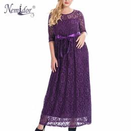 52617837db1 Nemidor High Quality Women Elegant O-neck Party Full Lace Dress Plus Size  7xl 8xl 9xl 3 4 Sleeve Vintage Wedding Long Maxi Dress Y19012201 discount  full ...