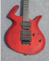 Chitarra ciliegia nera online-Custom Shop Parco Fly Mojo trasparente Cherry Red chitarra elettrica Floyd Rose Tremolo Cordier, hardware nero, HSH Pickups