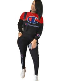 2019 senhoras moda jogging ternos Stripe Hoodie ocasional de treino Mulheres 2 Pieces Set Outwear Sweatsuit Mulheres manga comprida calças quentes com capuz + longas