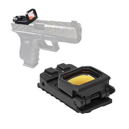 Пистолетный прицел онлайн-Тактический Vism флип красная точка пистолет прицел голографический рефлекс Docter прицел с G-крепление для 20 мм рельс