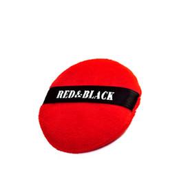 polvere di trucco nera Sconti RedBlack Professional Hook Soffio soffice in polvere Calm Makeup Cosmetic Powder Puff Bright Red Fashion Bellissimi strumenti di trucco comodi