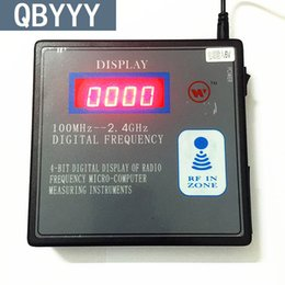 2019 contatore digitale remoto QBYYY 100mhz-1000mhz scanner per contatori di frequenza con telecomando 100mhz-1g indicatore radio per rilevatore di frequenza digitale contatore digitale remoto economici