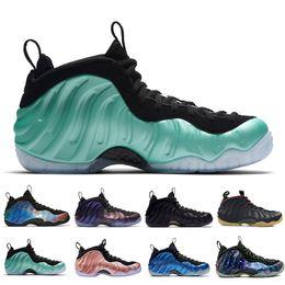 finest selection 832fc c4d91 2019 Penny Hardaway Chaussures de basketball pour homme Alternate Galaxy  Legion Green Air Aubergine Marron Mousses Sport Sneakers US 7-13