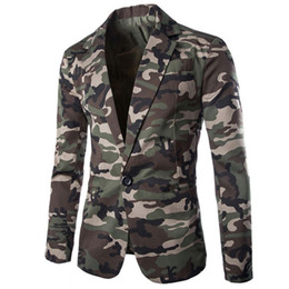 slim fit anzug armee Rabatt European Style Armee Designer beiläufige Mens-Klage-Blazer-Mäntel Tarnanzug Kleid Jacken und Mantel Slim Fit Street B598