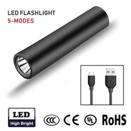 2019 jäger taschenlampe Led Taschenlampe Wiederaufladbare USB T6 Fünf Modi Aluminiumlegierung Wasserdichte 18650 Batterie Outdoor Camping Taschenlampe Fahrrad