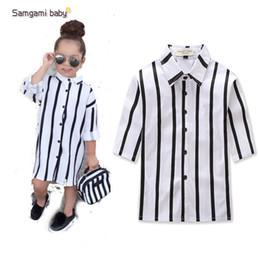 abbigliamento per bambini autunno nuovi modelli esplosione ins bei bambine in bianco e nero camicia per bambini vestiti top camicie ragazza da bei modelli neri fornitori