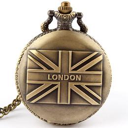 2019 frauen england flagge Vintage UK Flag-Quarz-Taschen-Uhr-Halskette Kette Fob Uhren Männer-Frauen-Geschenk Vereinigtes Königreich Großbritannien England Muster New rabatt frauen england flagge