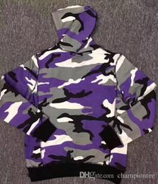 Chapéu de camuflão branco roxo on-line-2017 hot sale camo hoodie box logo Hoody brand new style sweatshirt purple camo white camo hoodies with hoodies hoodie frete grátis