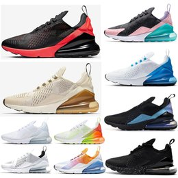 sapatilhas pretas agradáveis Desconto NIKE Air Max 270 Have A Nice Day Women Running shoes South Beach Blue Void Blooming Floral Firecracker University Gold Men Sports Sneaker