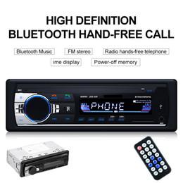 jogador mp3 livre Desconto 1 Pcs Leitor de Multimídia Carro Autoradio Bluetooth Leitor de MP3 de Rádio Estéreo Do Carro Aux Receptor de Entrada Aux Apoio Chamada Hands-free