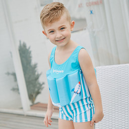 162f2eb028 Hot Kids One-piece Buoy 21 Style Baby Cartoon Life Vest Buoyancy Swimsuit  Floral Fresh Boys Girls Swimming Clothes Designer