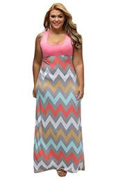chevron maxi vestito xl Sconti Maxi vestito chemisier di Chevron Stripes da donna di Linsery