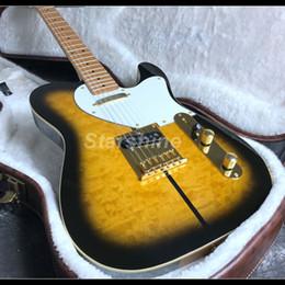 nouvelles guitares tl Promotion 2019 New Tuff Dog TL, guitare électrique, matériel doré, plateau en érable, assemblé, manche en érable
