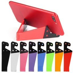 Складная подставка для планшета для iphone онлайн-Универсальный складной держатель для мобильного телефона с подставкой для смартфона и планшета Двойная поддержка V-образный складной кронштейн для ПК iphone Samsung