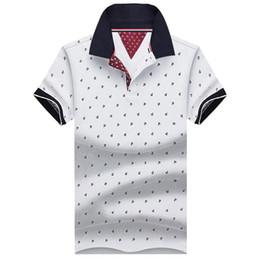 Polo del collare del basamento online-Polo in cotone manica corta Polo in cotone manica corta Polo in cotone per uomo