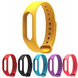 reemplazar reloj Rebajas Sustituir la correa de reloj de pulsera de silicona para la banda 2 Mi pulsera anti-perdida Reforzar la correa de silicona para miband 2 de reemplazo