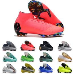 2019 scarpe Mercurial Superfly VI Calcio 360 Elite FG KJ 6 XII 12 CR7 SE Ronaldo Neymar Mens Donna Ragazzi Scarpe da calcio morsetti alta alla