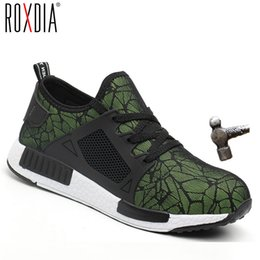 2019 botas de neve roxas para mulheres ROXDIA marca plus size 35-46 aço toecap homens mulheres botas de segurança de trabalho verão leve resistente ao impacto sapatos masculinos RXM113