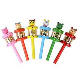 Jouets pour bébés marionnettes hochets poignée de main sonnerie anneau apprentissage précoce en bois bande dessinée musique nouveauté K0356 ? partir de fabricateur