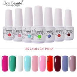 Barnices de gel online-Uñas del gel del brillo LED UV gel de barniz de uñas de arte barniz empapa del gel de la laca de uñas rosado del esmalte de 8 ml